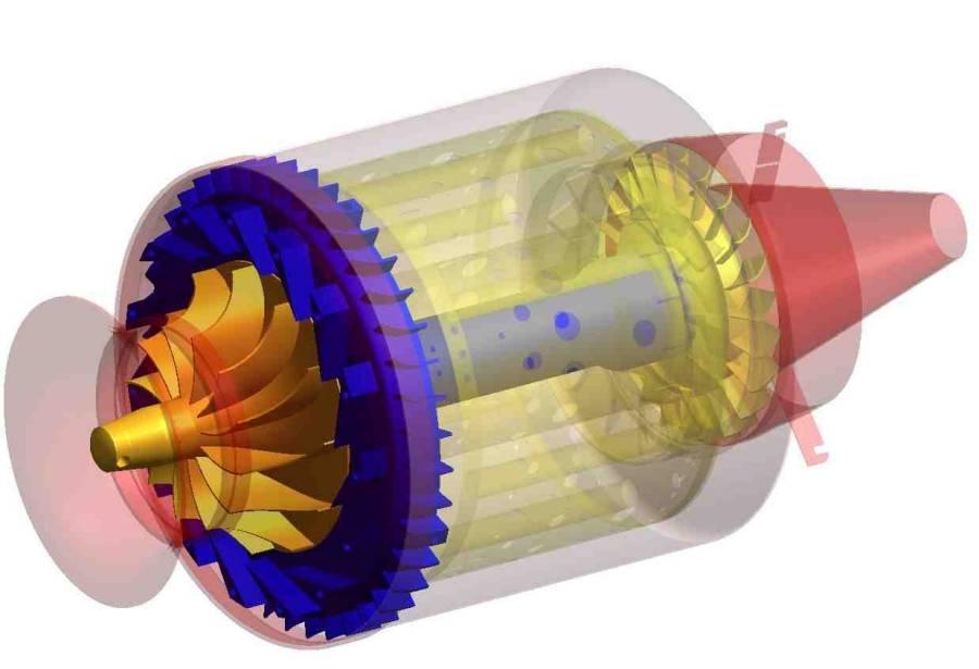 Модель турбореактивного двигателя своими руками 69