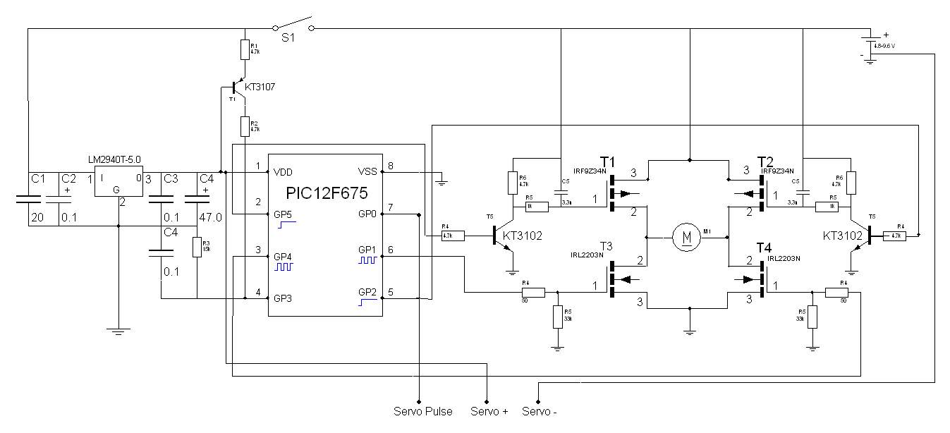 Схемы управление электродвигателями моделей