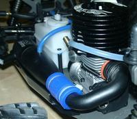 Двигатель GS R25MT с установленной задней крышкой под электростартёр.